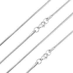 Fako Bijoux® - Ketting - Slang Schakel - Snake Chain - RVS - Stainless Steel - 2mm - 45cm - Zilverkleurig