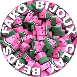 Fako Bijoux® - Klei Kralen  Watermeloen - Figuurkralen - Kleikralen - 10mm - 100 Stuks