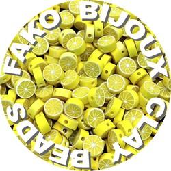 Fako Bijoux® - Klei Kralen Citroen - Figuurkralen - Kleikralen - 10mm - 100 Stuks