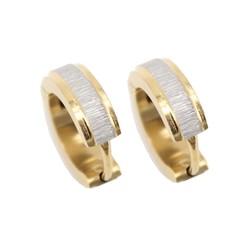Fako Bijoux® - Oorbellen - Oorringen - RVS - Staal - Geborsteld - 13mm - Goudkleurig