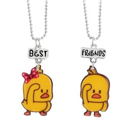 Fako Bijoux® - Vriendschapsketting - Eendje - BFF Ketting - Best Friends - Duck