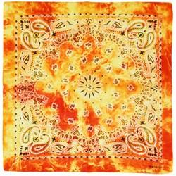 Fako Fashion® - Paisley Bandana - Tie Dye - Acid Wash - Oranje