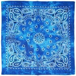 Fako Fashion® - Paisley Bandana - Tie Dye - Acid Wash - Blauw