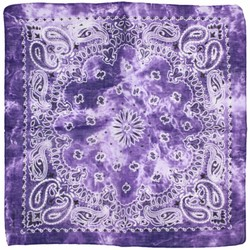 Fako Fashion® - Paisley Bandana - Tie Dye - Acid Wash - Paars