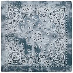 Fako Fashion® - Paisley Bandana - Tie Dye - Acid Wash - Grijs