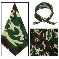Fako Fashion® - Bandana - Camouflage - Groen