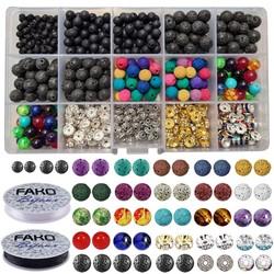 Fako Bijoux® - DIY Lavasteen Kralen Set - Maansteen Kralen - Sieraden Maken Kit - Zelf Sieraden Maken - Set - 600 Stuks