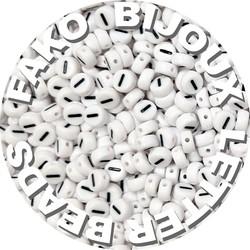 Fako Bijoux® - Letterkralen I - Letter Beads - Alfabet Kralen - Klinkers - Sieraden Maken - 250 Stuks - Wit