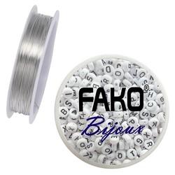 Fako Bijoux® - Koperdraad - Metaaldraad - Sieraden Maken - 0.8mm - 2 Meter - Zilver