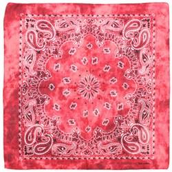 Fako Fashion® - Paisley Bandana - Tie Dye - Acid Wash - Rood