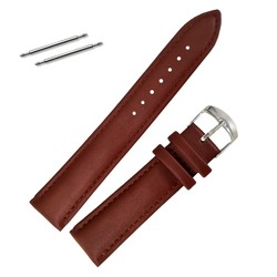 Fako® - Horlogebandje - Echt Leer - Super Soft - 18mm - Lichtbruin