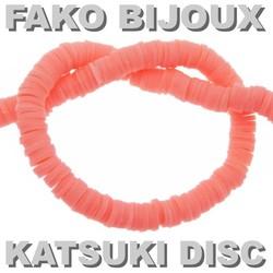 Fako Bijoux® - Katsuki Disc Kralen - Polymeer Kralen - Surf Kralen - Kleikralen - 6mm - 350 Stuks - Zalmroze