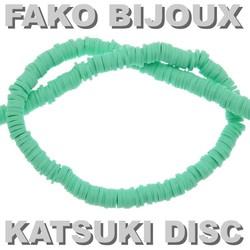 Fako Bijoux® - Katsuki Disc Kralen - Polymeer Kralen - Surf Kralen - Kleikralen - 6mm - 350 Stuks - Lichtgroen