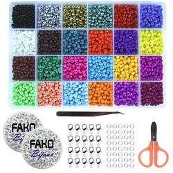 Fako Bijoux® - DIY Kralen Set DLX - Glas Zaad Kralen - Sieraden Maken - 4mm - 4800 Stuks