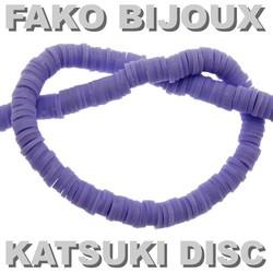 Fako Bijoux® - Katsuki Disc Kralen - Polymeer Kralen - Surf Kralen - Kleikralen - 6mm - 350 Stuks - Paars