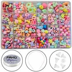 Fako Bijoux® - Kralen Set - Acryl - Sieraden Maken - Serie 8 - Box - 550 Stuks