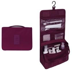 Fako Fashion® - Toilettas Met Haak - Travel Bag - Organizer Voor Toiletartikelen - Reisartikelen - Travel Bag - Ophangbare Toilettas - Bordeaux Rood
