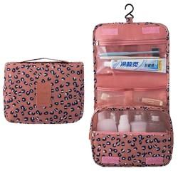 Fako Fashion® - Toilettas Met Haak - Travel Bag - Organizer Voor Toiletartikelen - Reisartikelen - Travel Bag - Ophangbare Toilettas - Luipaard Roze