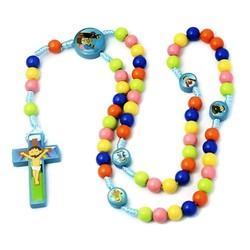 Fako Bijoux® - Kinder Rozenkrans Ketting - Rozenkrans Voor Kinderen - Religieuze Ketting - Acryl - 8mm