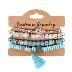 Fako Bijoux® - Armband Set - Boho - Turquoise
