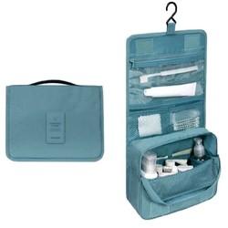 Fako Fashion® - Toilettas Met Haak - Travel Bag - Organizer Voor Toiletartikelen - Reisartikelen - Travel Bag - Ophangbare Toilettas - Turquoise
