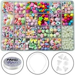 Fako Bijoux® - Kralen Set - Acryl - Sieraden Maken - Serie 5 - Box - 550 Stuks