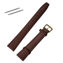 Fako® - Horlogebandje - Echt Leer - Small - 18mm - Bruin