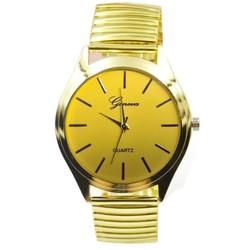 Fako® - Horloge - Rekband - Geneva - Ø 40mm - Goudkleurig