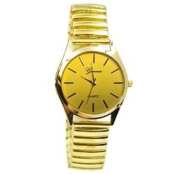 Fako® - Horloge - Rekband - Geneva - Ø 31mm - Goudkleurig