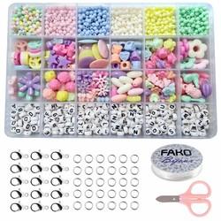Fako Bijoux® - DIY Kralen Set Pastel - Letterkralen & Pastelkralen – Sieraden Maken – Kinderen – Pastelkleuren