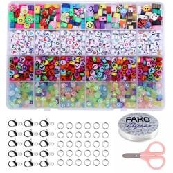 Fako Bijoux® - Letterkralen Set - Letter Beads - Alfabet Kralen - Sieraden Maken - Kleikralen Mix