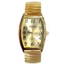 Fako® - Horloge - Rekband - Featurely - 31x44mm - Goudkleurig - Goud
