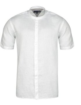 Le grenier du lin Mao collar shirt short sleeve