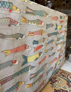 "Le grenier du lin Fabric ""kite with fish"""