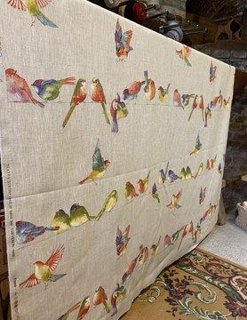 """Le grenier du lin Fabric """"Happy Birds"""""""