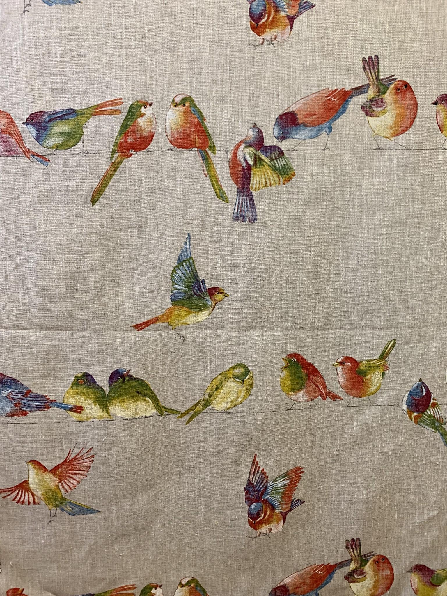 """Le grenier du lin Tissu """"Happy Birds"""""""