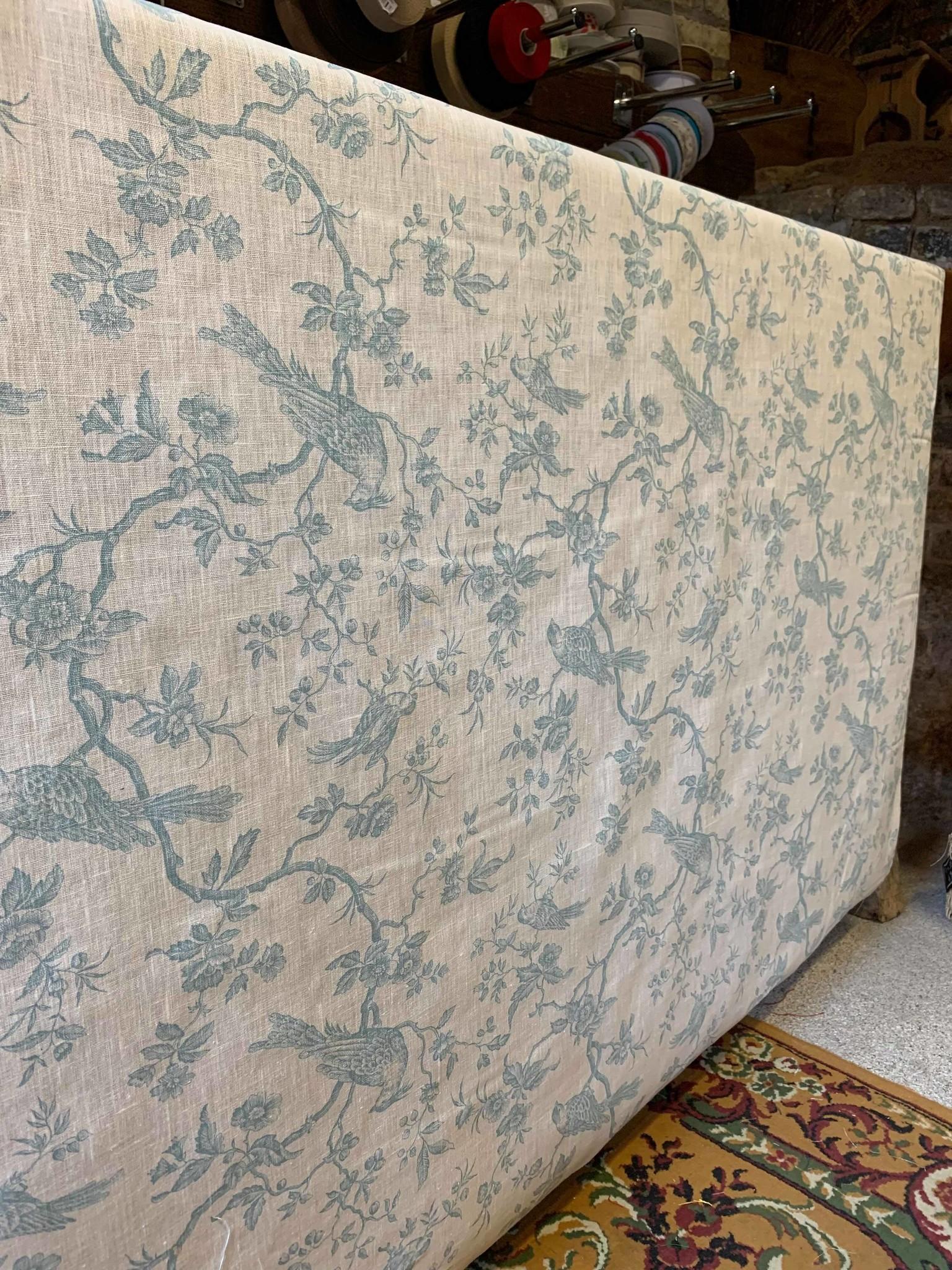 "Le grenier du lin Fabric ""Spring blue"""