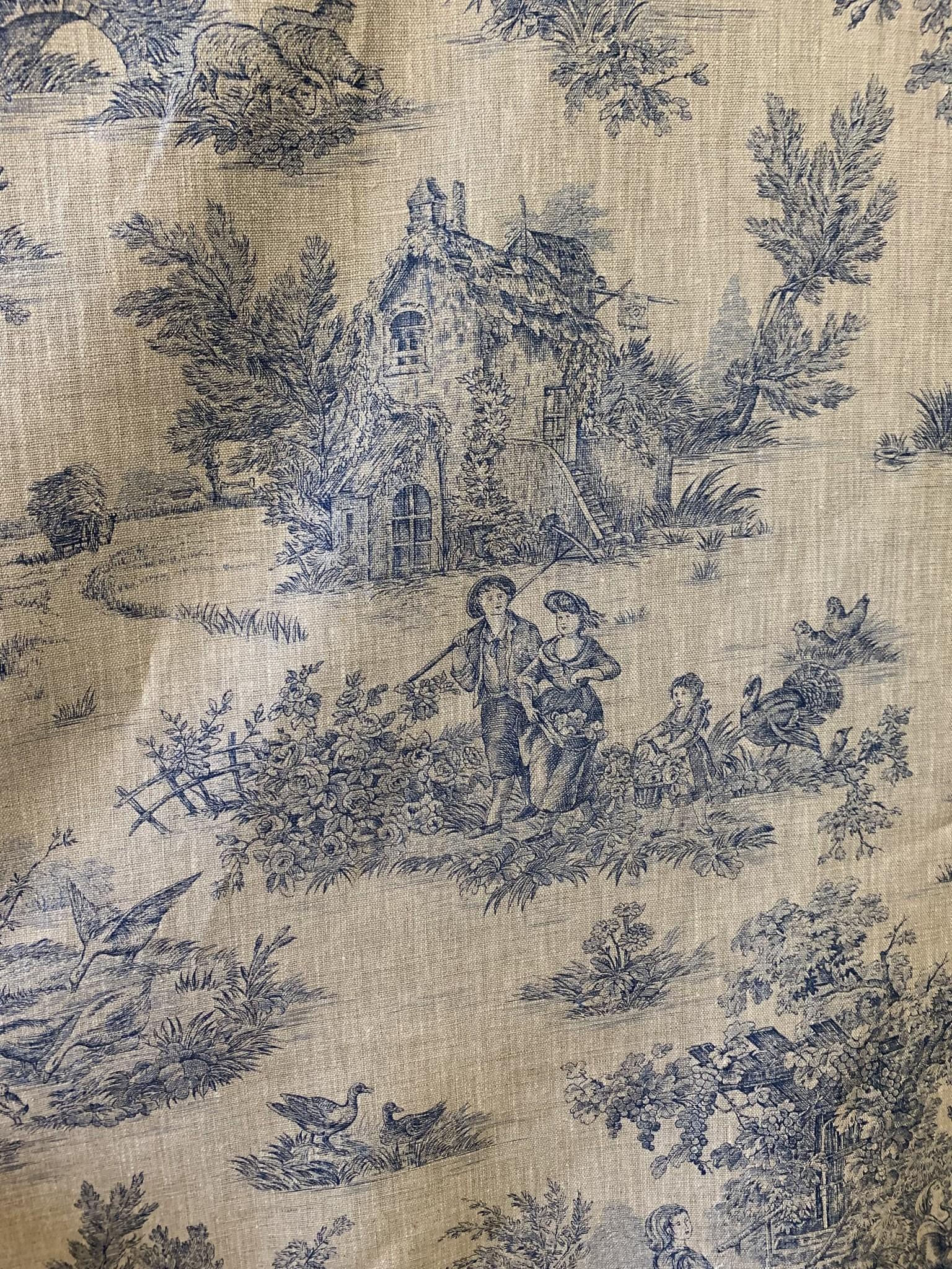 """Le grenier du lin Fabric """"Toile de Jouy"""""""