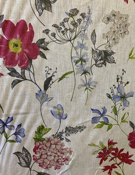 "Le grenier du lin Fabric ""Fieldflowers"""