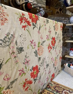 "Le grenier du lin Fabric ""Fieldflowers red"""