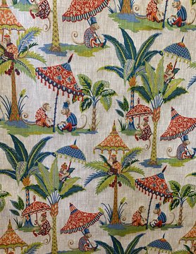 "Le grenier du lin Fabric ""Monkeys"""