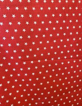 """Le grenier du lin Tissu """"étoilé rouge"""""""