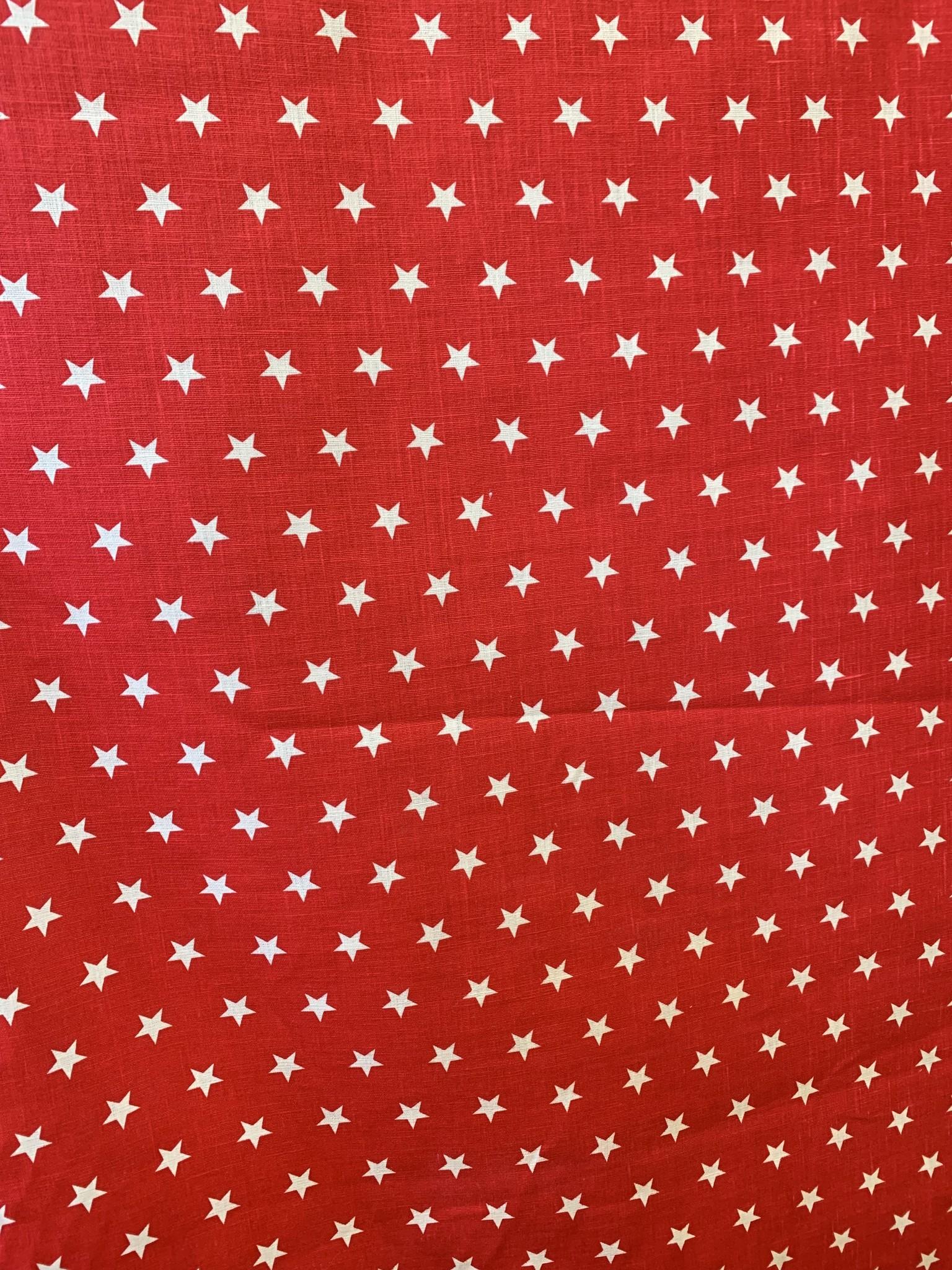 """Le grenier du lin Stof """"rood met sterren"""""""