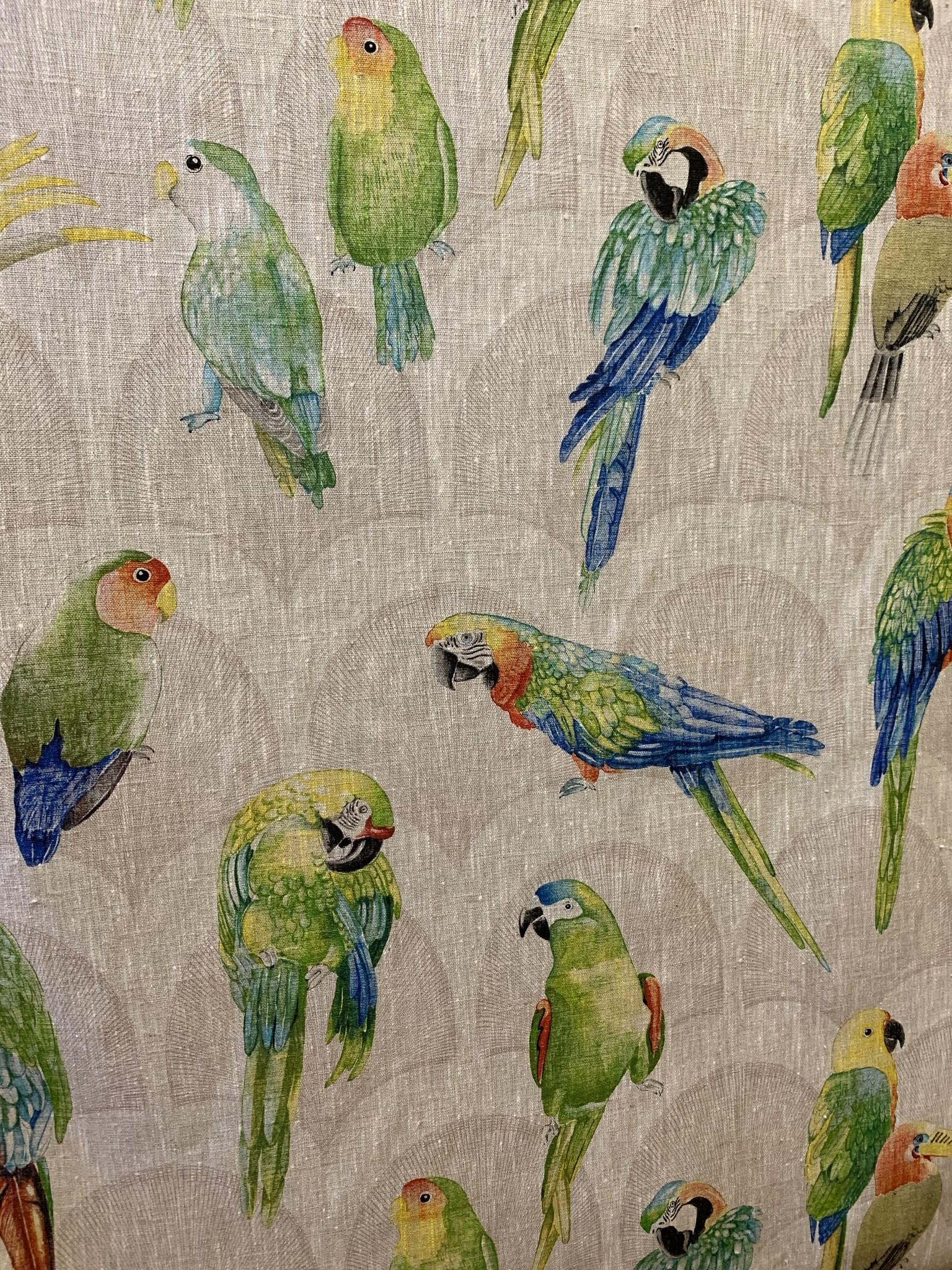 """Le grenier du lin Fabric """"Parrots"""""""
