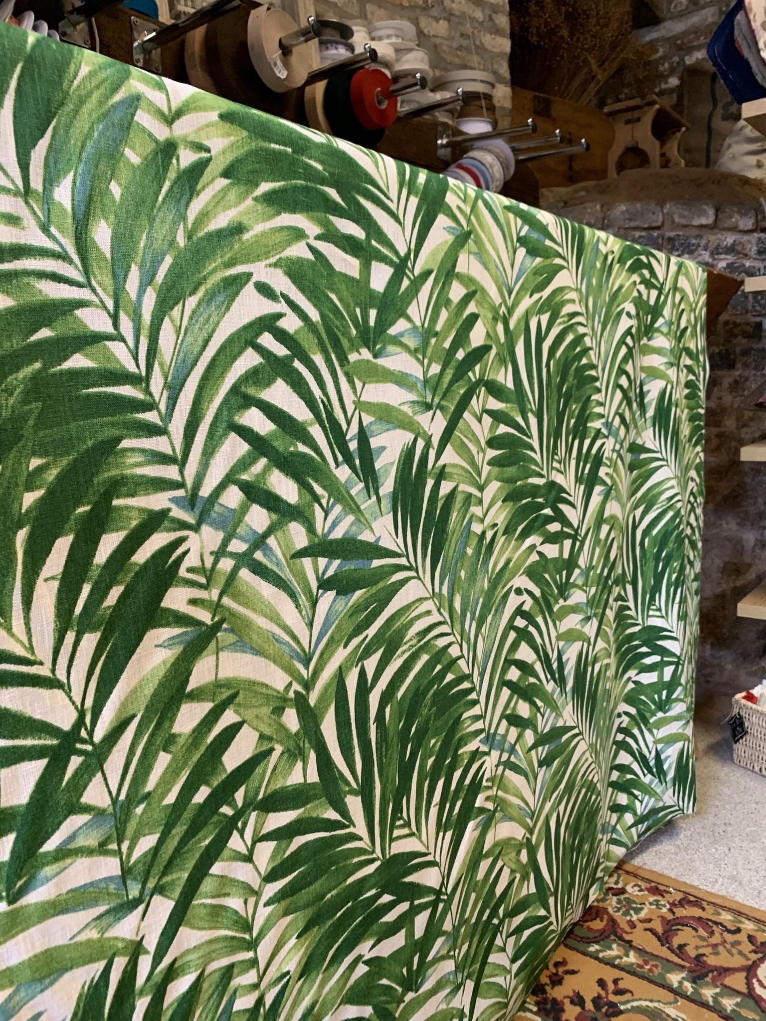 """Le grenier du lin Stof """"palmbladeren groen"""""""