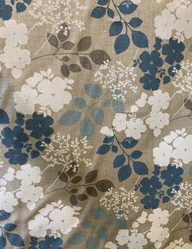 "Fabric ""Flowery blue"""