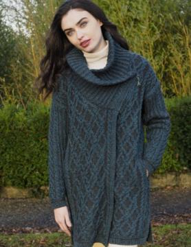 Aran Crafts Jas in wol, lang