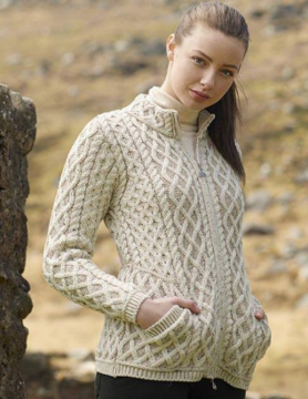 Aran Crafts Sweater with zipper in the middle Aran Crafts