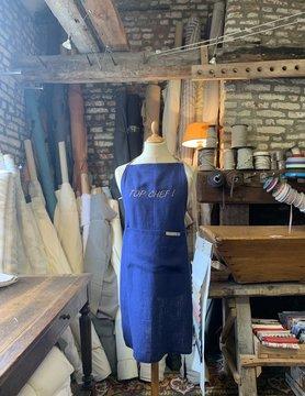 "Le grenier du lin Schort ""Top chef"" Blauw"