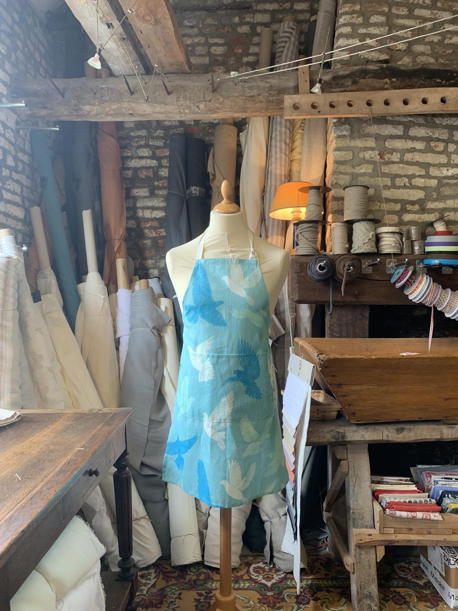 Le grenier du lin Apron Blue daisy